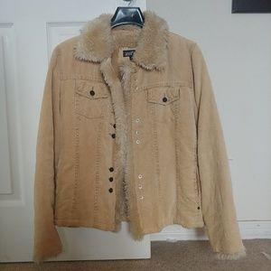 Black Rivet faux shearling corduroy jacket